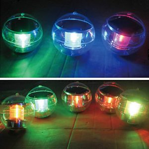 Solar Power Changing Color LED Floating Light Ball