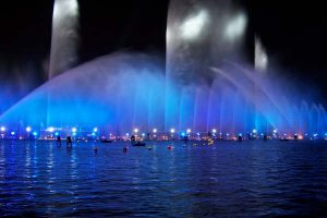 Great Water Fountains With Pretty Blue Lights