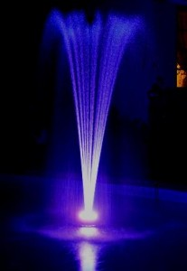 LED Ring Light Floating Fountain