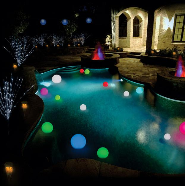solar power changing color led floating light ball. Black Bedroom Furniture Sets. Home Design Ideas