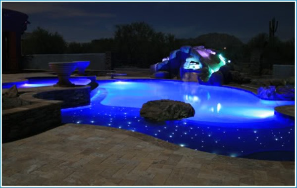 Fiber Pool Illumination