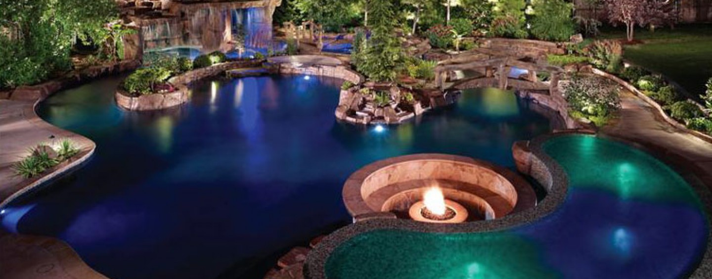 Tropical Paradise, Edmond, Oklahoma city | Inground Pool Lights