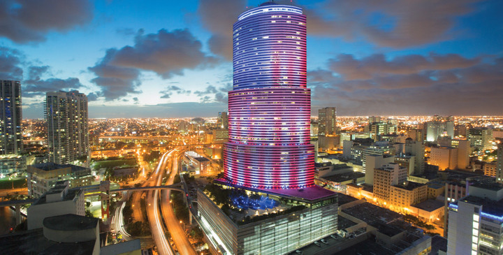 LED Lighting: Miami Tower
