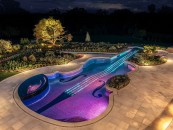 Music Themed Violin Inground Pool, Bedford, NY