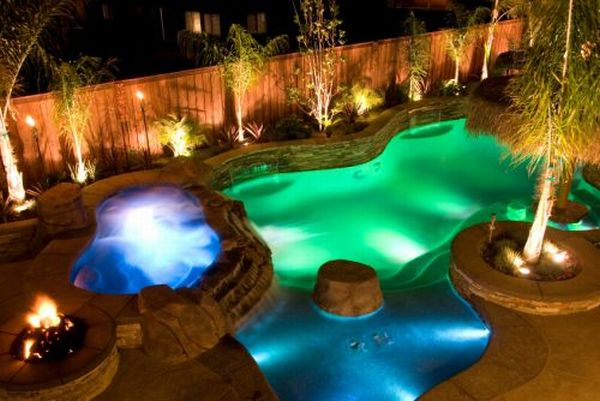 Dream Backyard With Led Pool Lighting