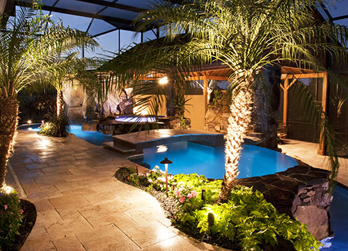 Lucas lagoons inground pool lights for Pool design orlando florida