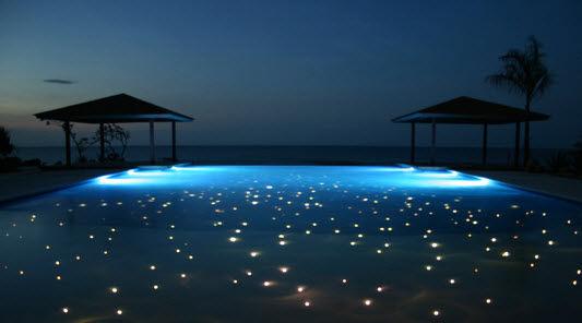 Beautiful Fiber Lighting Inground Pool Lights