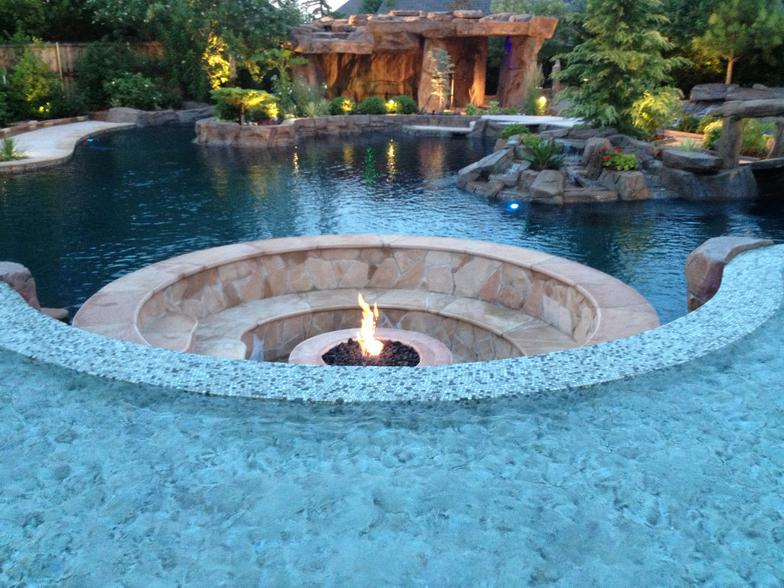 Elegant pool inground pool lights - Swimming pool contractors oklahoma city ...