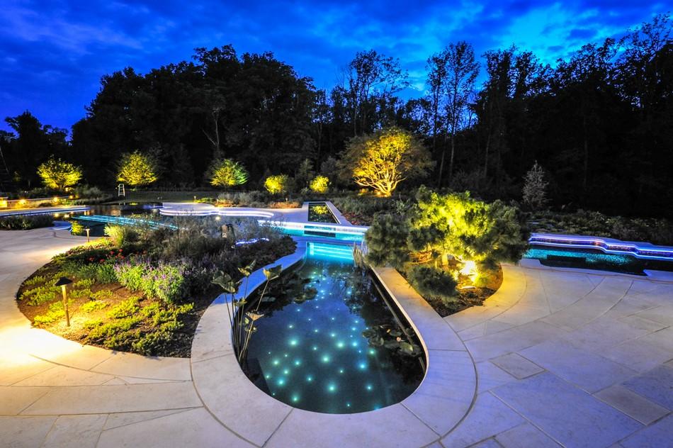 12 Person Perimeter Overflow Spa Inground Pool Lights