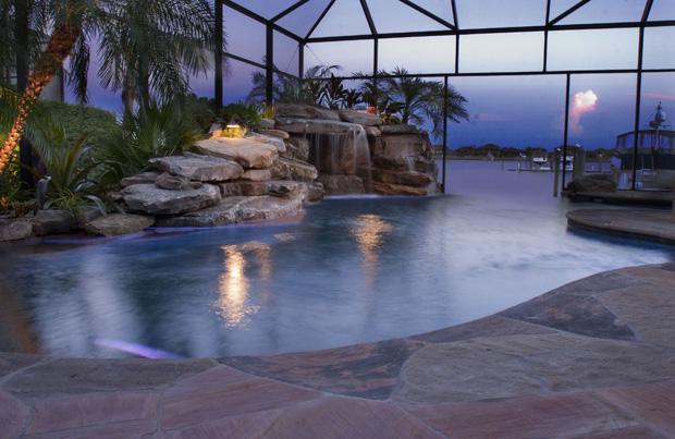 Negative Edge Lagoon Pool Inground Pool Lights